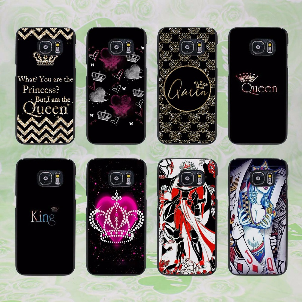 Fashion brand king queen design hard black phone case for Case design