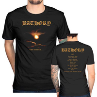 Bathory T Shirt Men Twilight Of The God Blood Two Sides Short Sleeve Casual Printed Tee