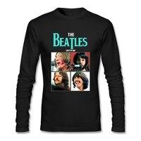 The Beatles Rock Tshirt Men Popular Cotton T Shirt Crewneck Long Sleeve Bespoke Shirts