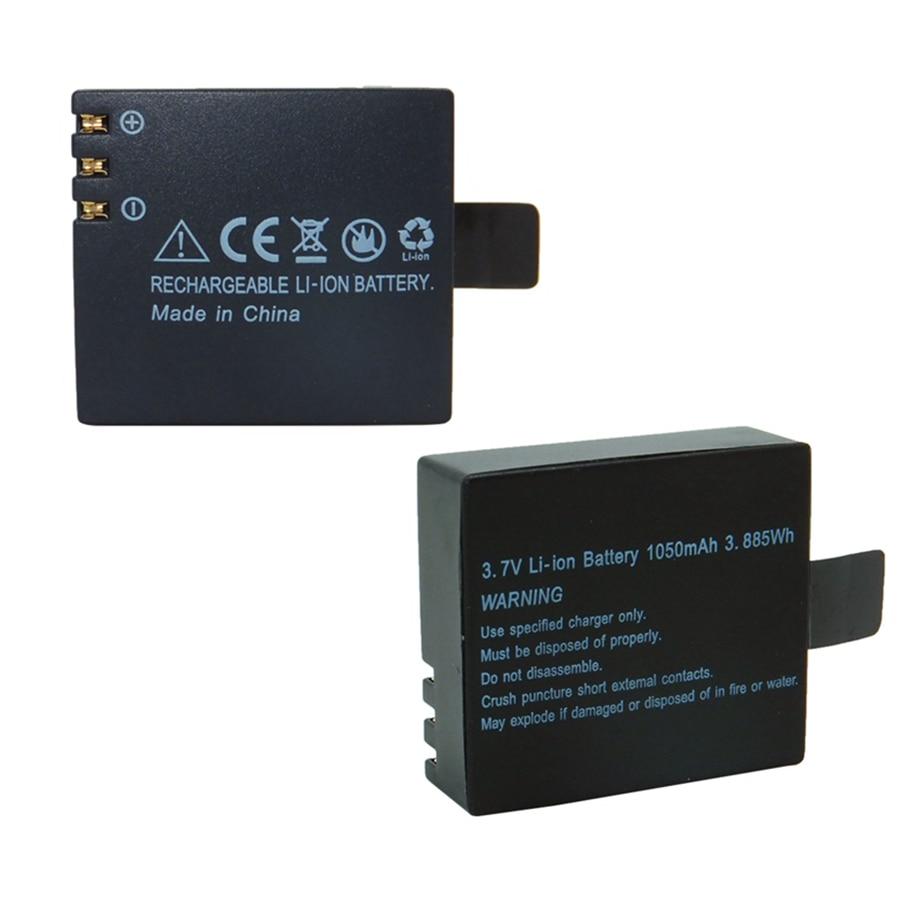 2 шт. цифровой аккумулятор 1050 мАч литий-ионный аккумулятор для VeFly SOOCOO SJCAM SJ4000 SJ5000 F60C F68R H8R M10 экшн-Спортивная камера