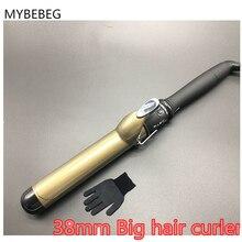 Profesyonel saç maşası 38mm Değnek Silindirleri Demir saç Bigudi saç Hızlı bukleler prem saç ABD/AB/AU /İNGILTERE TAK