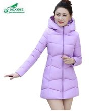 OKXGNZ 2017 New Winter Jacket Women Thicken Hooded Warm Jackets Coats Parka Ladies Medium-Long Large size Cotton Down JacketA688