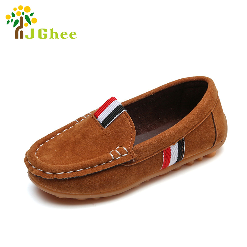 J Ghee 2017 Spring Autumn Kids Shoes For Boys Childrens Casual Sneakers Loafers For Medium Boys Slip-on Fashion Soft 16-18.6CM
