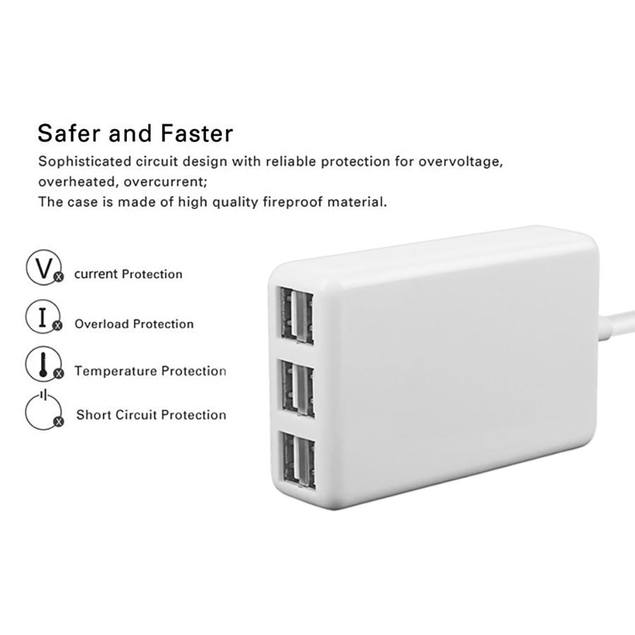 SUMPK 5V6A Adaptador de cargador de pared USB 6 puertos Cargador - Accesorios y repuestos para celulares - foto 2