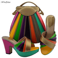 Hottest Shoes With Matching Bags For lady Fascinating Shoe and Bag to Match For Party 38 42 Nigerian Shoes and Bag Set B810 23