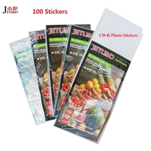 JETLAND CD-R Glossy Photo Stickers 50 sheets 100 labels CD printable labels for inkjet printer
