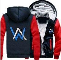 Alan Walker Thicken Hoodie Rage DJ Life Rave edm AW Walkzz Warm Fleece Hoodie Alan Walker Winter Warm Zipper Coat Hoodie