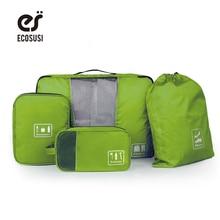 Ecosusi new travel zubehör aufbewahrungstasche für kleidung schuhe elektronik kulturveranstalter 4 teile/satz reisetasche koffer