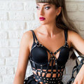 Leather Corset Harness,Fetish Harness,Body Cage,Corset Bralette,Leather Harness,Fashion Harness,Gothic,Leather Top,Corset Bra,c