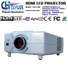 smart tv projector for home multimedia with remote&speaker&large screen&low noise