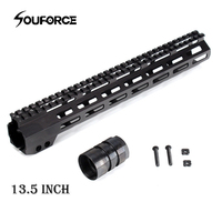 Slim 10/13.5/15 Inches Free Float Handguard Rail Mount with Nuts to Gun Accessories for Hunting