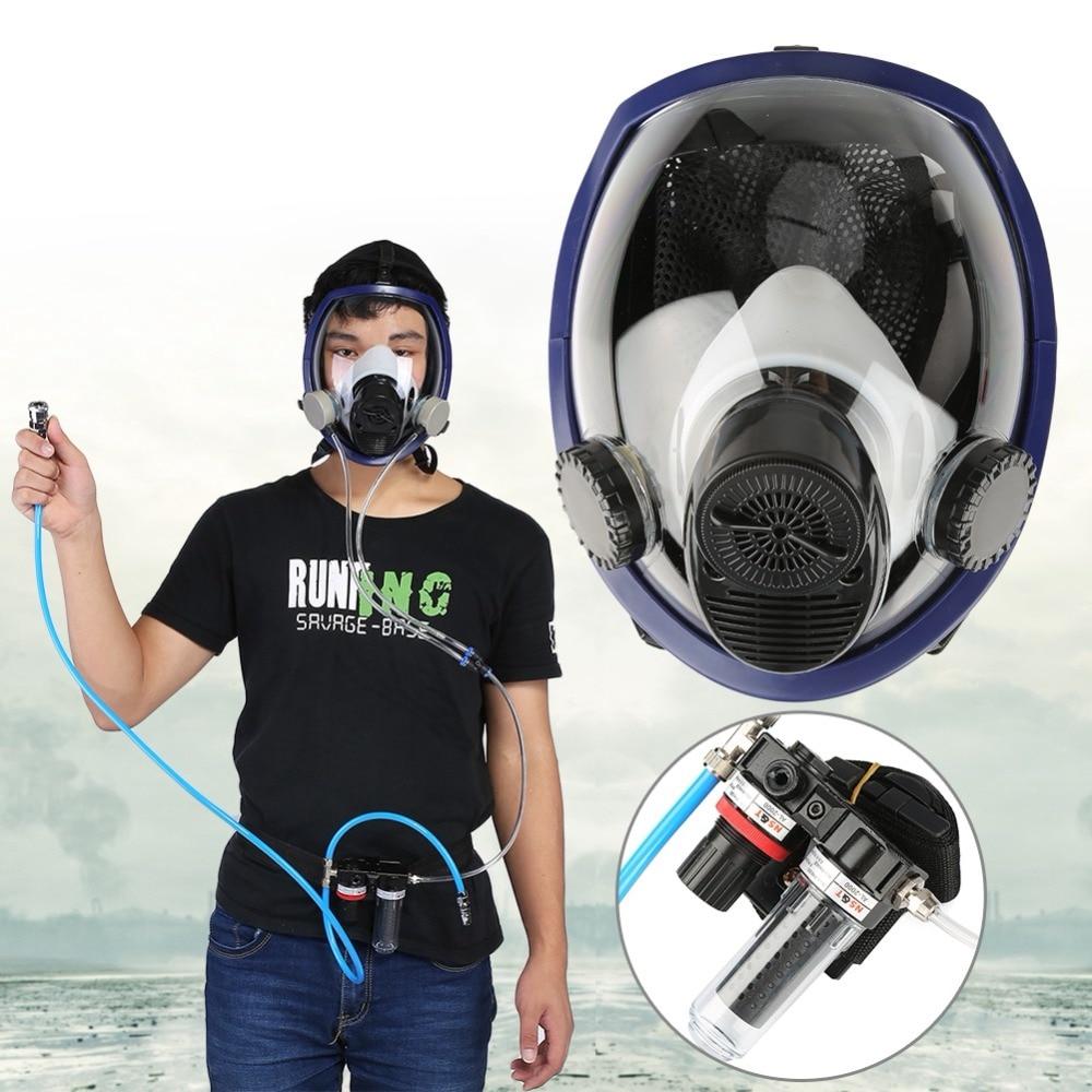 Alimenté en Air Fourni Masque À Gaz Système Full Face Respirateur pour Pulvérisation De Peinture De Soudage
