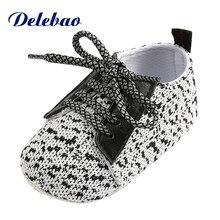 Naujas dizainas Sidabrinis medvilninis audinys Dots Lace-Up Pavasaris Naujagimio kūdikių berniukas Mergina batai Kasdieniai batai Vaikams Minkštas Pirmasis vaikštynys