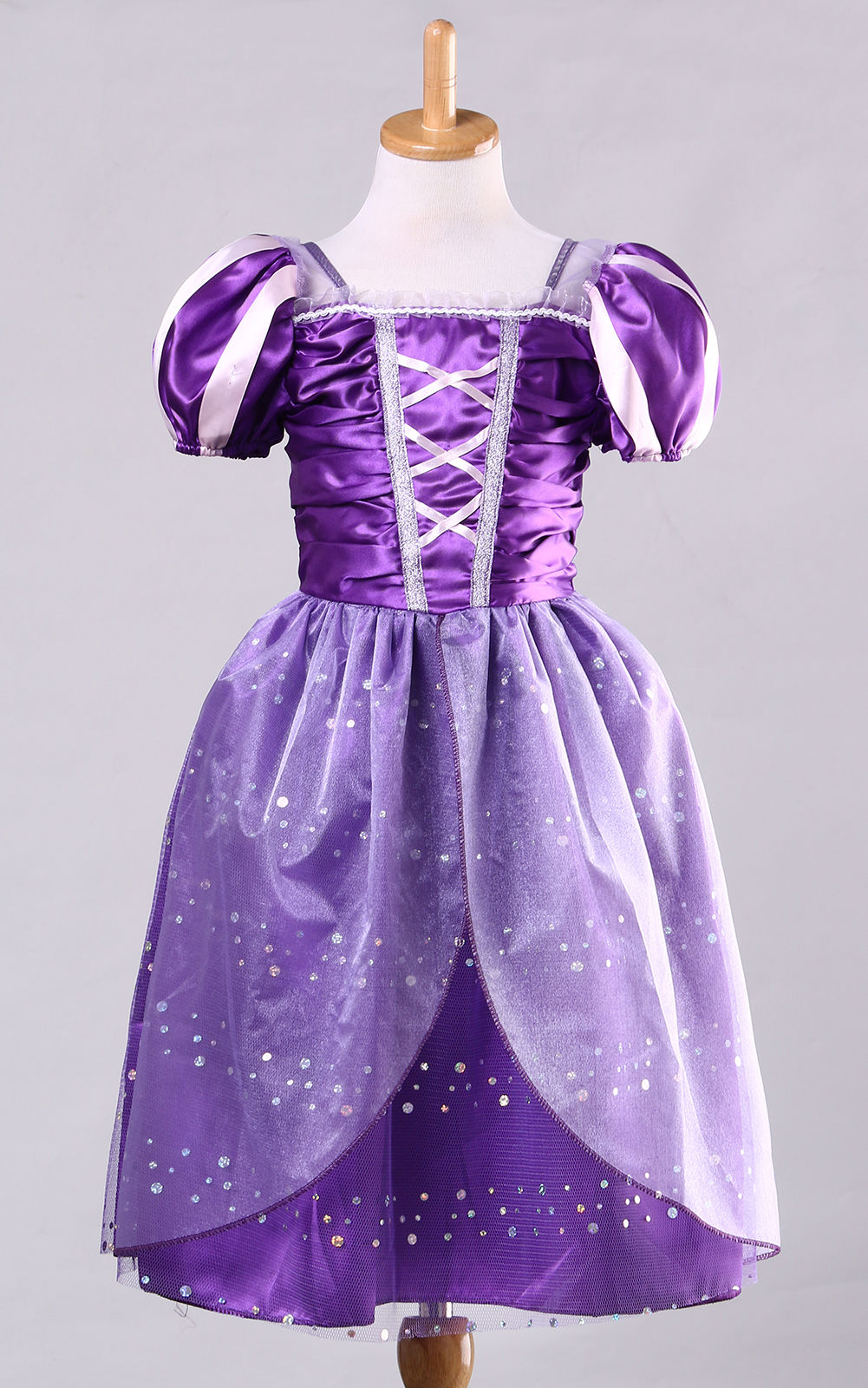 Rapunzel Kids Girls Princess Halloween Party Dress Tangled Cosplay Outfits Costume 3 To 10 Years ems dhl free shipping toddler s little girl s tull dress princess birthday party masquerade rapunzel cosplay halloween wear