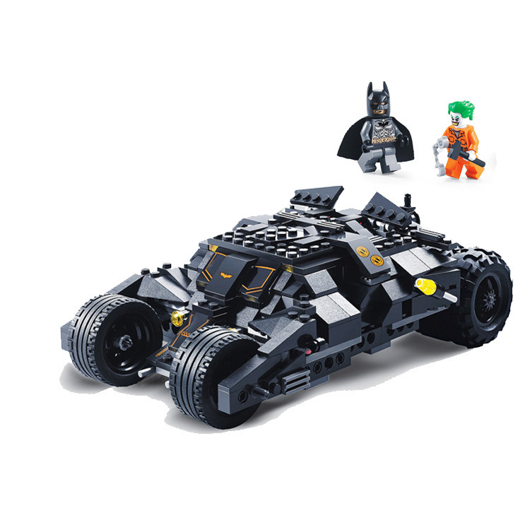 325pcs Super Hero Batman Race Truck Car Classic Building Blocks Compatible With LegoINGly Batman DIY Toy Set With 2 Figures classic batman robin base cave rescue poisonous female figures weapom compatible legoinglys super hero building blocks gift