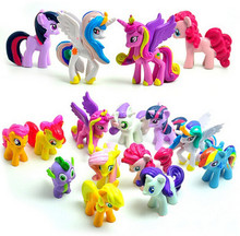12pcs/lot Unicorn Horse Action & Toy Figures Toys & Hobbies Cartoon Horse Action Figure Toys(China)