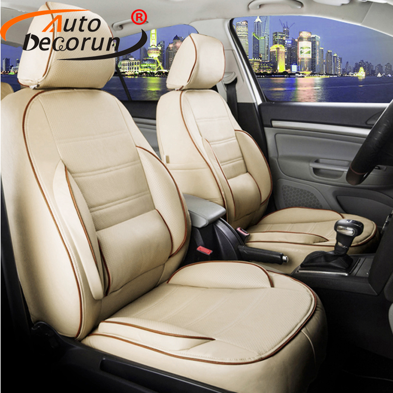 AutoDecorun Custom PU leather seat cover sets for Peugeot 607 car seat covers cushion seat supports cover complete set styling