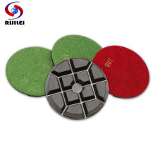 4FP1-6 Wholesale  4 50# -3000# dremelconcrete polishing,resin bond floor diamonds polishing pad 4Pcs/Lot