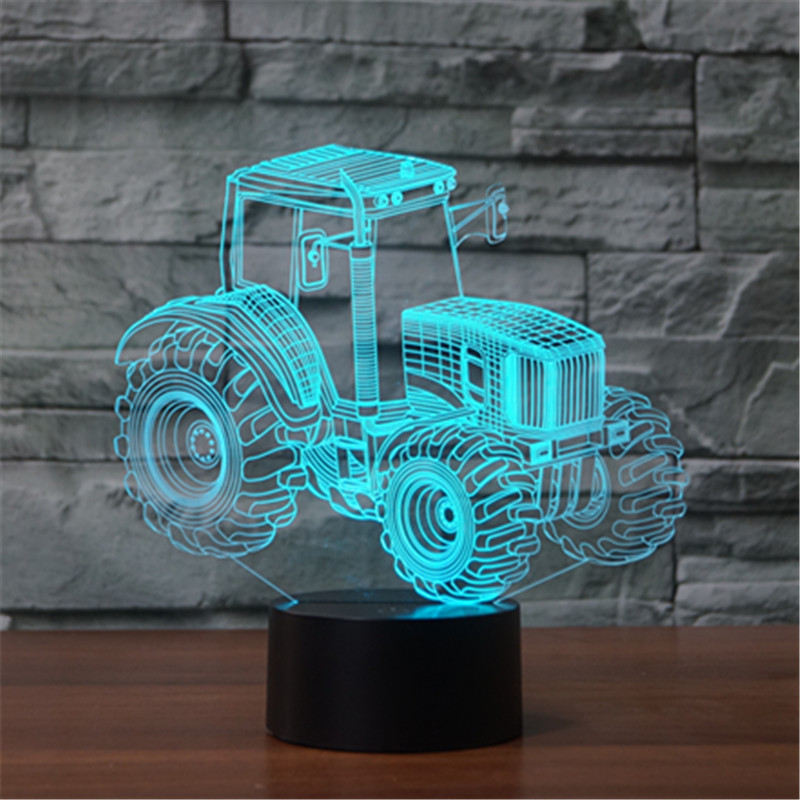 new type of foreign trade tractor 3D lamp seven color touch charge charging LED visual l ...