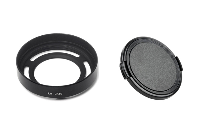 Black Silver Metal Lens Hood LH X10 Adapter Ring Lens Hood 52mm lens front cap for