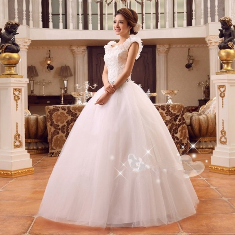 2015 Hot Sale On Storage Cheap Price Wedding Dress Marriage Party Bride Gowns Romantic Princess Lace Up Full Sizes Bridals In Dresses From