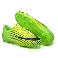 Extérieur hommes garçons chaussures de Football bottes de Football haute cheville enfants crampons entraînement Sport baskets taille 35-45 livraison directe