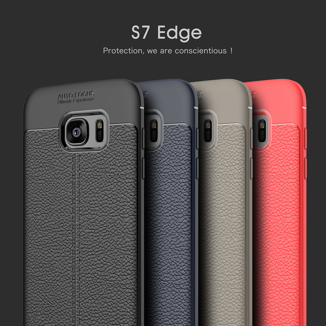 new product 1828d d47e1 US $6.39 20% OFF|New 4 Colors for Samsung Galaxy S7 edge Soft TPU Rubber  Back Cover Phone Case Cheap Fashion Discount Free shipping S7 Edge G9350-in  ...