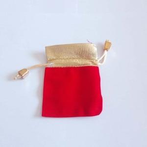 Image 3 - 200 ピースプノンペンゴールドビーズベルベットバッグジュエリーポーチギフトバッグ結婚式の巾着バッグ女性ジュエリーディスプレイギフト包装バッグ