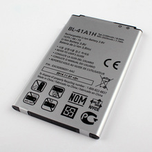 Fesoul High Capacity BL-41A1H Phone Li-ion Replacemen Battery for LG Optimus F60 MS395 D390N Tribute VS810PP LS660
