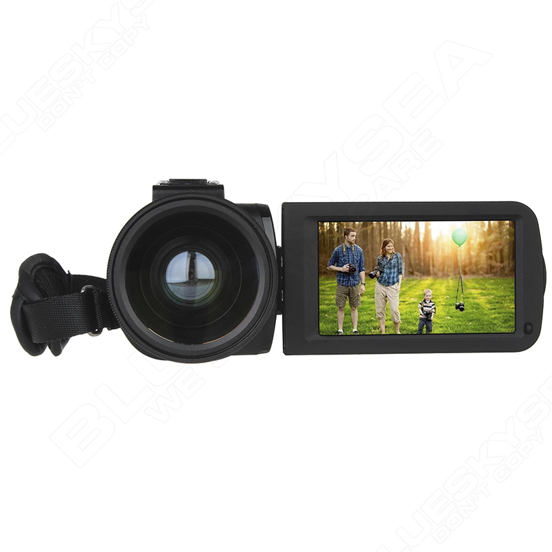 """ORDRO HDV-Z Digital Video Camera Camcorder 3.0"""" Touch Screen 1080P Full HD 16X Zoom 24MP Face Detection LED Fill-in Light DV 19"""