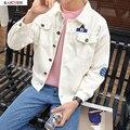 New Fashion Men's Denim Jacket M-XL Men Windbreaker White and Black Hip Hop Casual Jeans Outfit Korean Slim Fit Mens Jackets