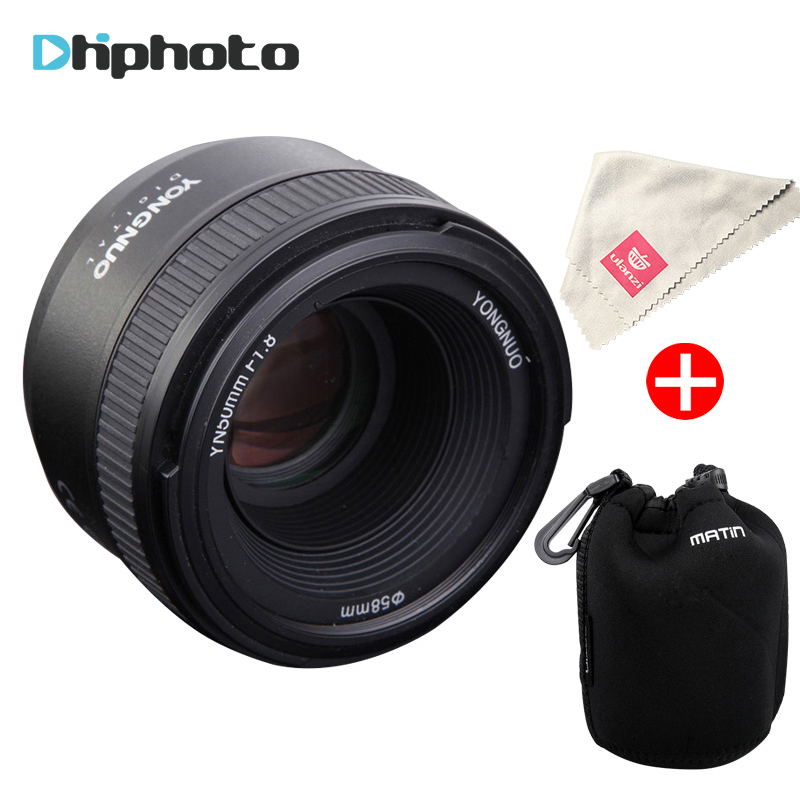 YONGNUO YN50MM F1.8 Large Aperture Auto Focus Lens full frame as AF-S 50mm f1.8 for Nikon D3300 D5300 D5100 D750 Camera DSLR pixle vertax d14 battery grip as mb d14 for nikon dslr d600 d610 camera