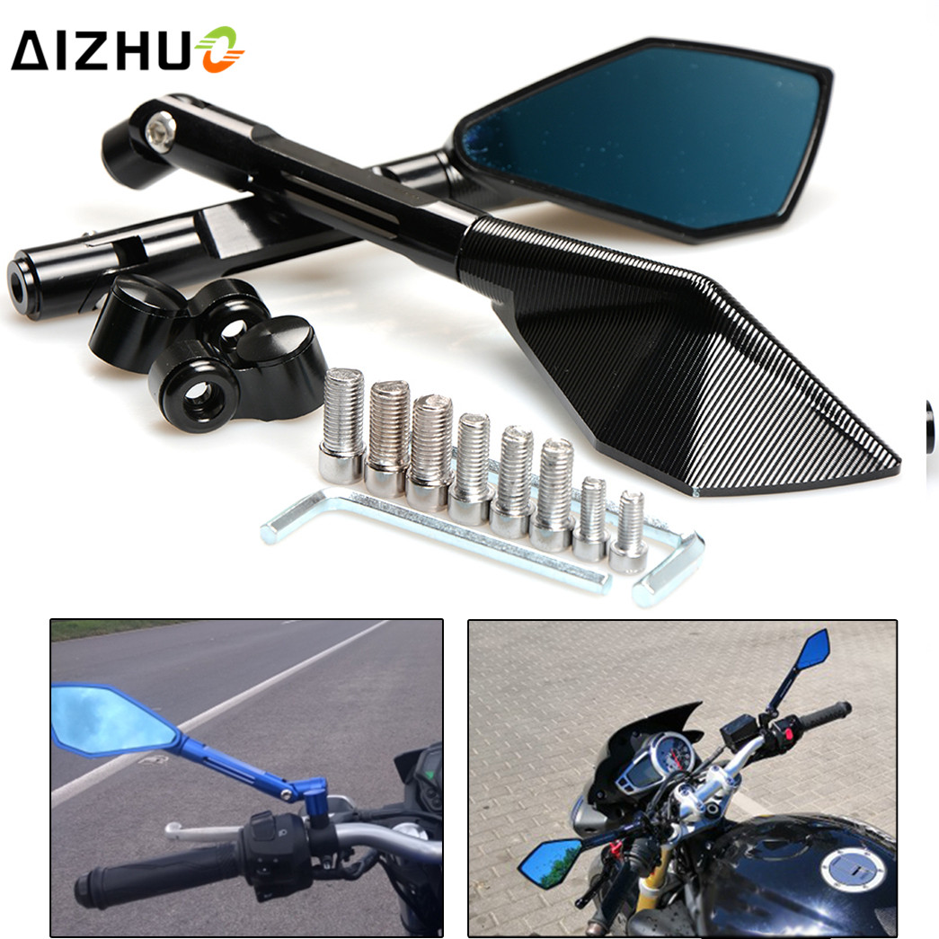 8mm 10mm Motorcycle Rearview Mirror Rear View CNC Aluminum For Yamaha FZ6 FAZER FZ1 NMAX 125 155 R125 R3 R1 Honda Suzuki YAMAHA motorcycle aluminum cooler radiator for yamaha fz6 fz6n fz6 n fz6s 2006 2007 2008 2009 2010