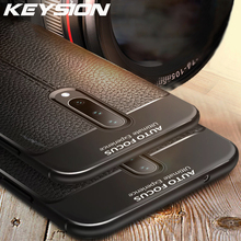 KEYSION Phone Case for Oneplus 7 Pro Case Leather Texture TPU Soft Protective Bumper Rubber Cover Case for Oneplus 7 1+ 7 Pro