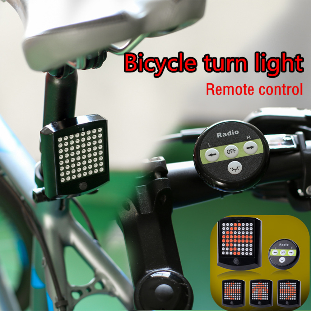 New Wireless Remote Control LED Bike Rear Tail Light Turn Signal Taillight Safety Warning Bycicle Light Tail Lamp Waterproof ...