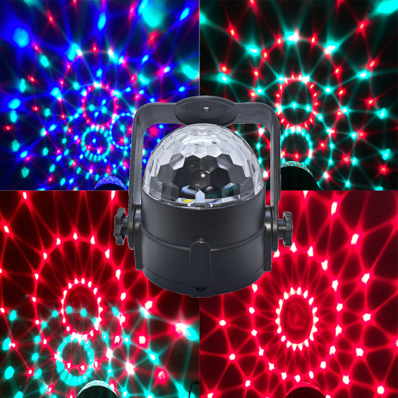 3W RGB crystal magic ball soundlights DJ disco party music light laser projector stage effect lighting
