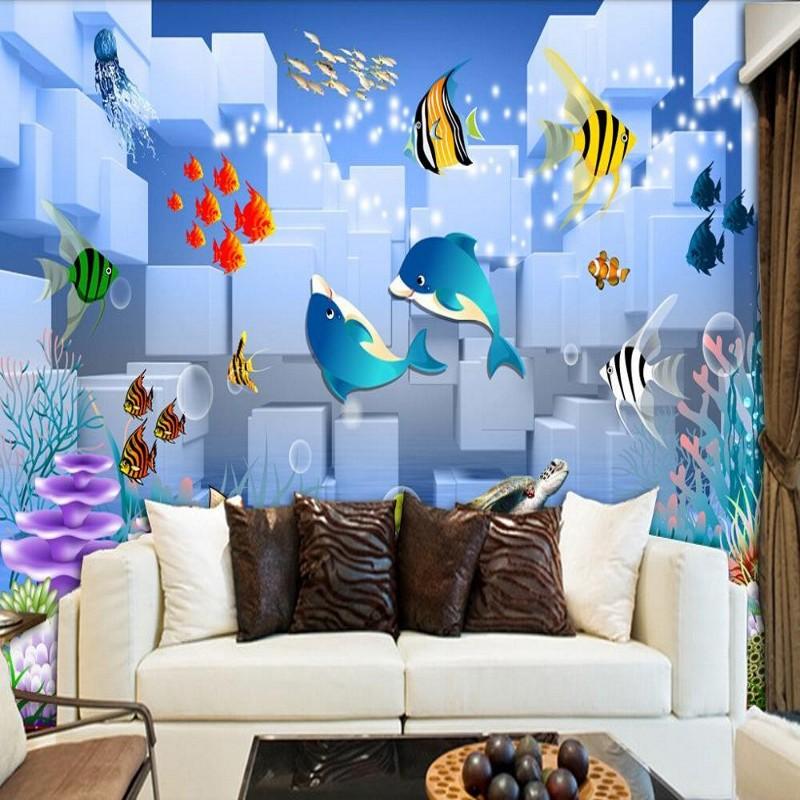 fisch tapete-kaufen billigfisch tapete partien aus china fisch ... - Schlafzimmer Tapeten Bilder