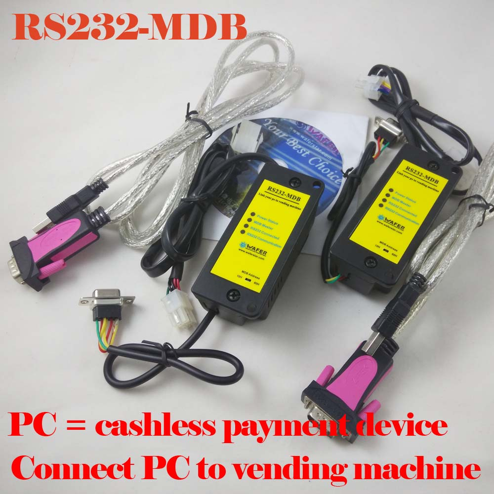 RS232 MDB working as cashless payment device together with bill acceptor,coin validator for vending access control system