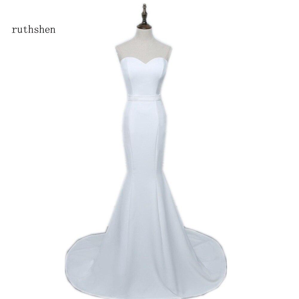 ruthshen Sexy Fashion Strapless Mermaid Wedding Dresses Sweetheart Simple Vestidos De Novia Sirena China Bridal Gowns