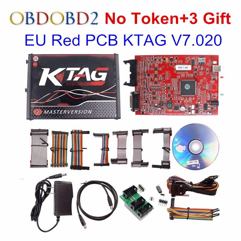 EU Rot KTAG K-TAG V7.020 Master SW V2.23 Verwendet Online K TAG 7,020 Keine Tokens ECU Chip Tuning Tool Besser als KTAG V6.070 V2.13