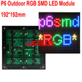 P6 Outdoor RGB SMD LED Module 192*192mm 32*32pixels for full color LED display Scrolling message LED sign P6 RGB SMD LED display