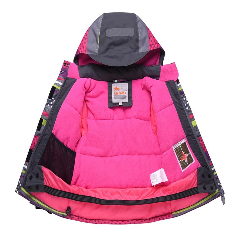 Image 4 - 2019 Winter Kids Girls Snowsuit Ski Sets Warm Hooded Girls Ski  Suit Ski Jacket Pants Outdoor Children Waterproof Snowboard  SuitsClothing Sets