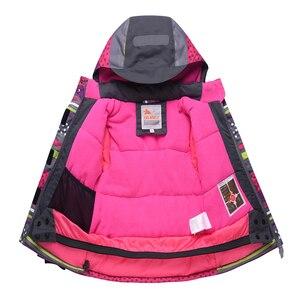 Image 4 - 2020 Winter Kinder Mädchen Schneeanzug Ski Sets Warme Mit Kapuze Mädchen Ski Anzug Ski Jacke Hosen Outdoor Kinder Wasserdichte Snowboard Anzüge