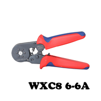 WXC8 6-6A línea abrazadera alicates que prensan manuales de Seis ángulo de presión de la manga