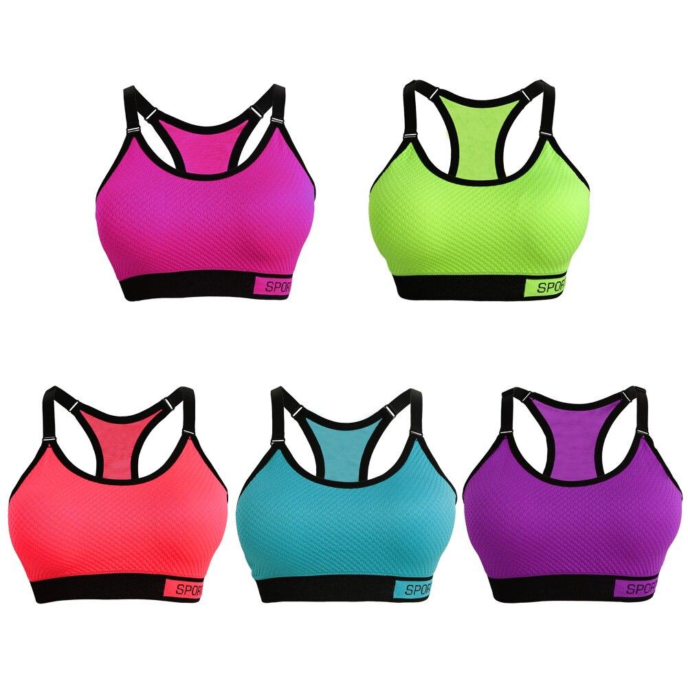 ad76b72211e60 Outdoor Sports Bra Yoga Bra Women Fitness Underwear Wireless Adjustable  Straps Detachable Pads Running Shake Proof Push Up Bra-in Sports Bras from  Sports ...