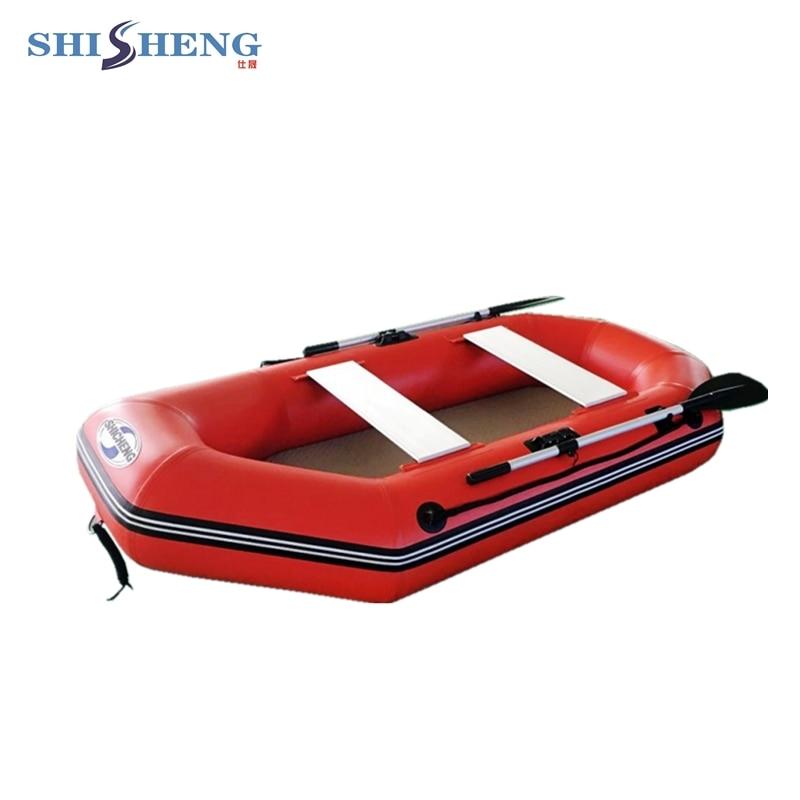 oppustelig båd fiskerbåd gummibåd robåd med padle til to personer