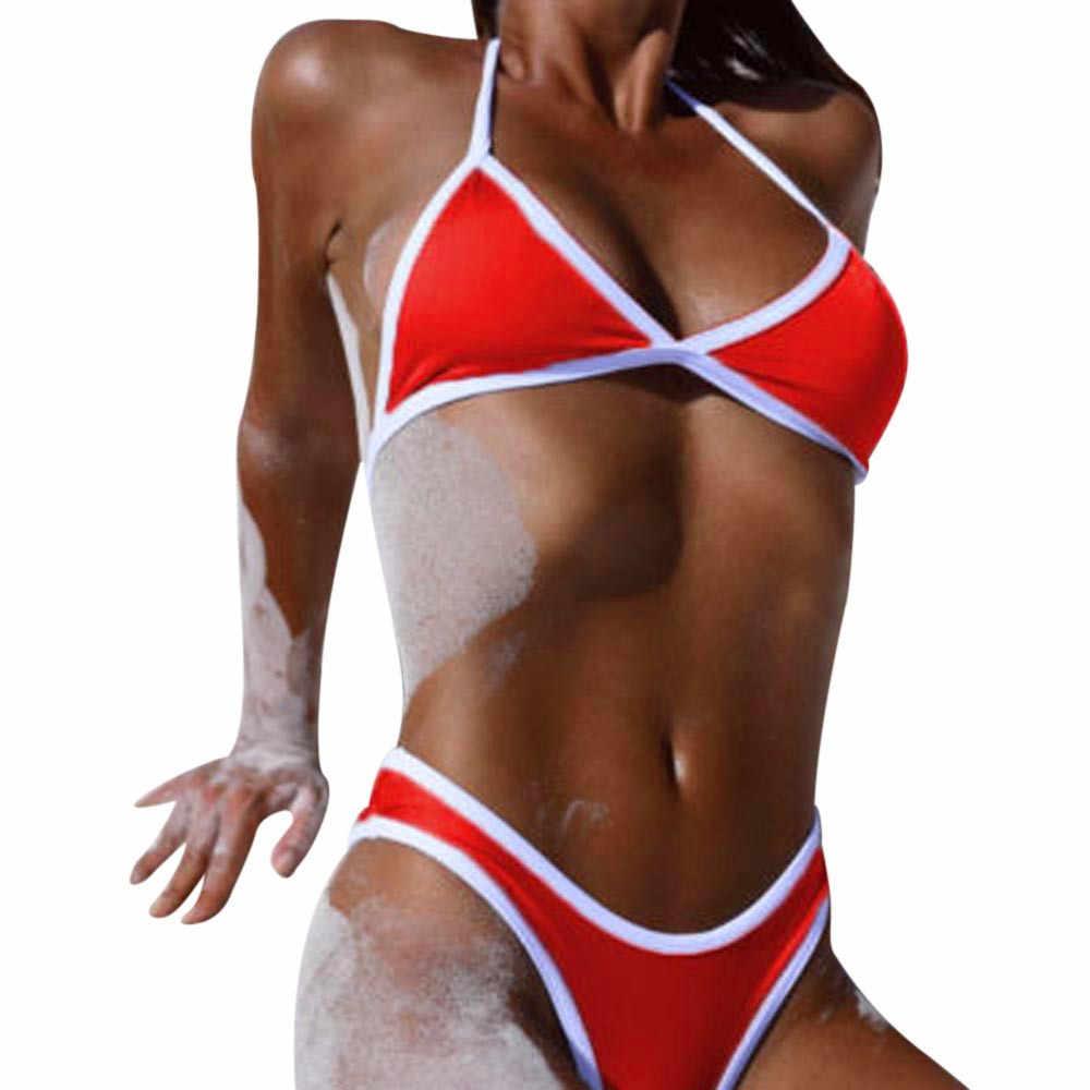 30! string Bikini Baju Renang Wanita 2020 Wanita Brasil Push Up Bra Empuk Top Bikini Set Badpak Baju Renang Pakaian Renang Plavky Wanita