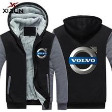 UU. de moda marca VOLVO impreso sudaderas con capucha para los hombres de  invierno con capucha de lana con c. bfaa3dc8613
