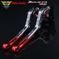 !Logo Dominar400 Red+Titanium For Bajaj Dominar 400 2017 2018 CNC Adjustable Folding Extendable Motorcycle Brake Clutch Levers
