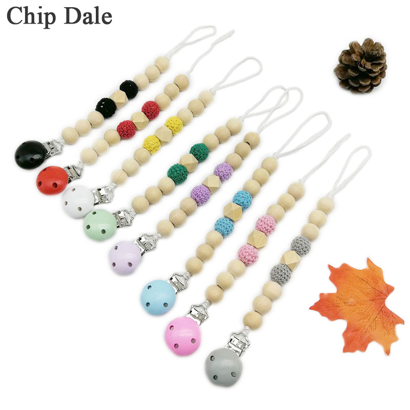 Strap Chew Toy Anti-drop Rope Soother Baby Teething Dummy Clips Pacifier Chain